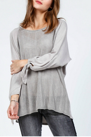 M-Rena  Pointelle sweater top - Product Mini Image