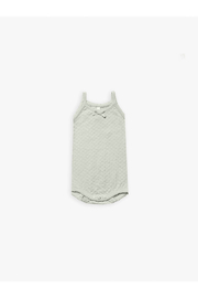 Quincy Mae Pointelle Tank Onesie - Mint - Product Mini Image