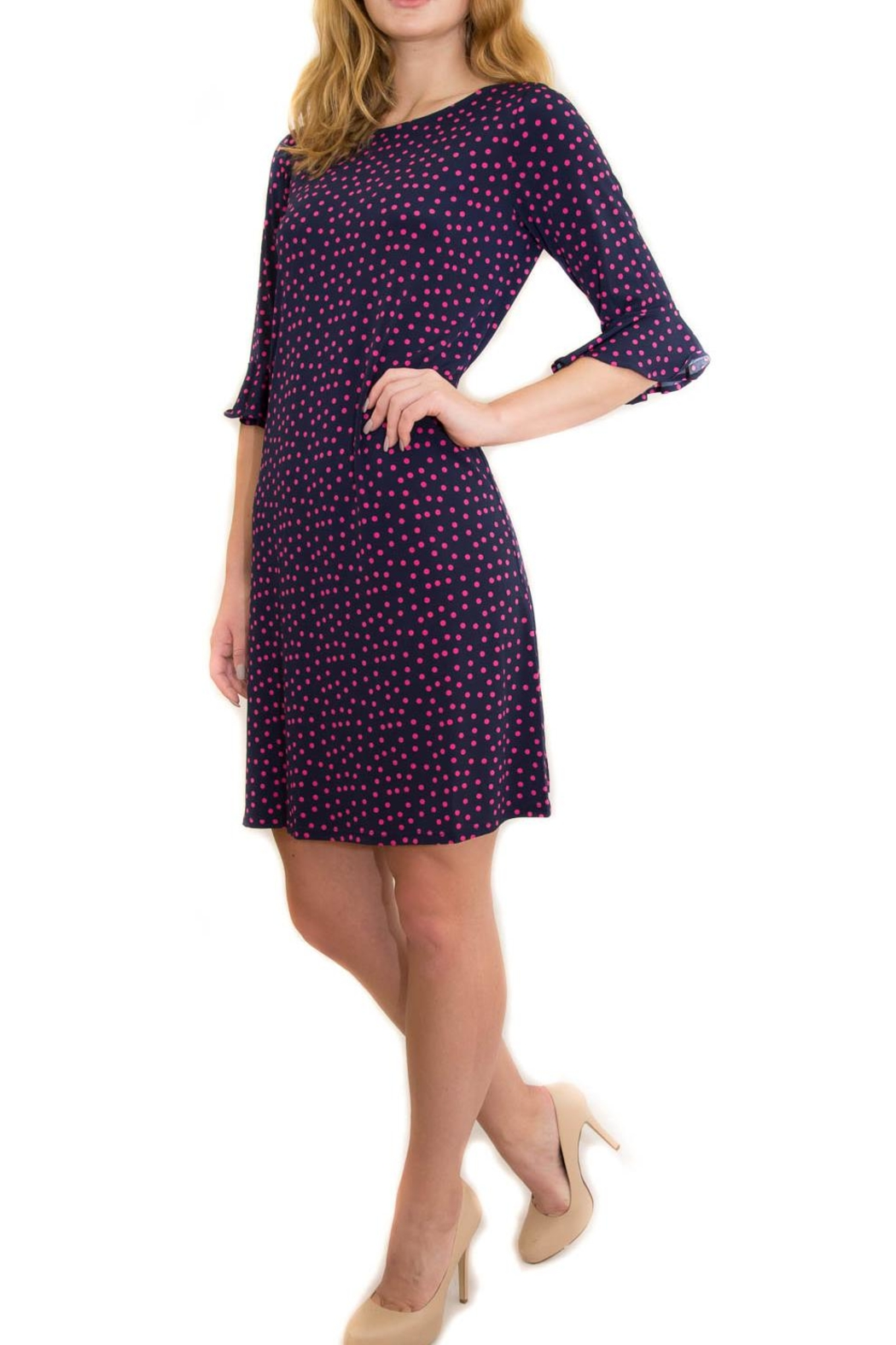 Leota Poka Dot Dress - Front Full Image