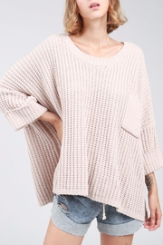 POL 3/4 Oversized Sweater - Front cropped