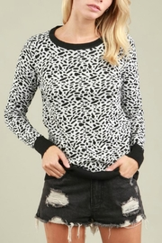 POL Animal Print Sweater - Front cropped