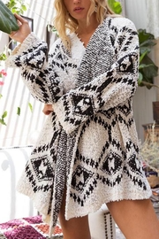 POL Aztec Print Cardigan - Front cropped
