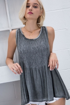POL Babydoll Tank With Lace Up Back - Product List Image