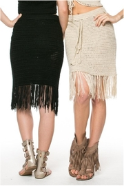 POL Cream Fringes Skirt - Product Mini Image