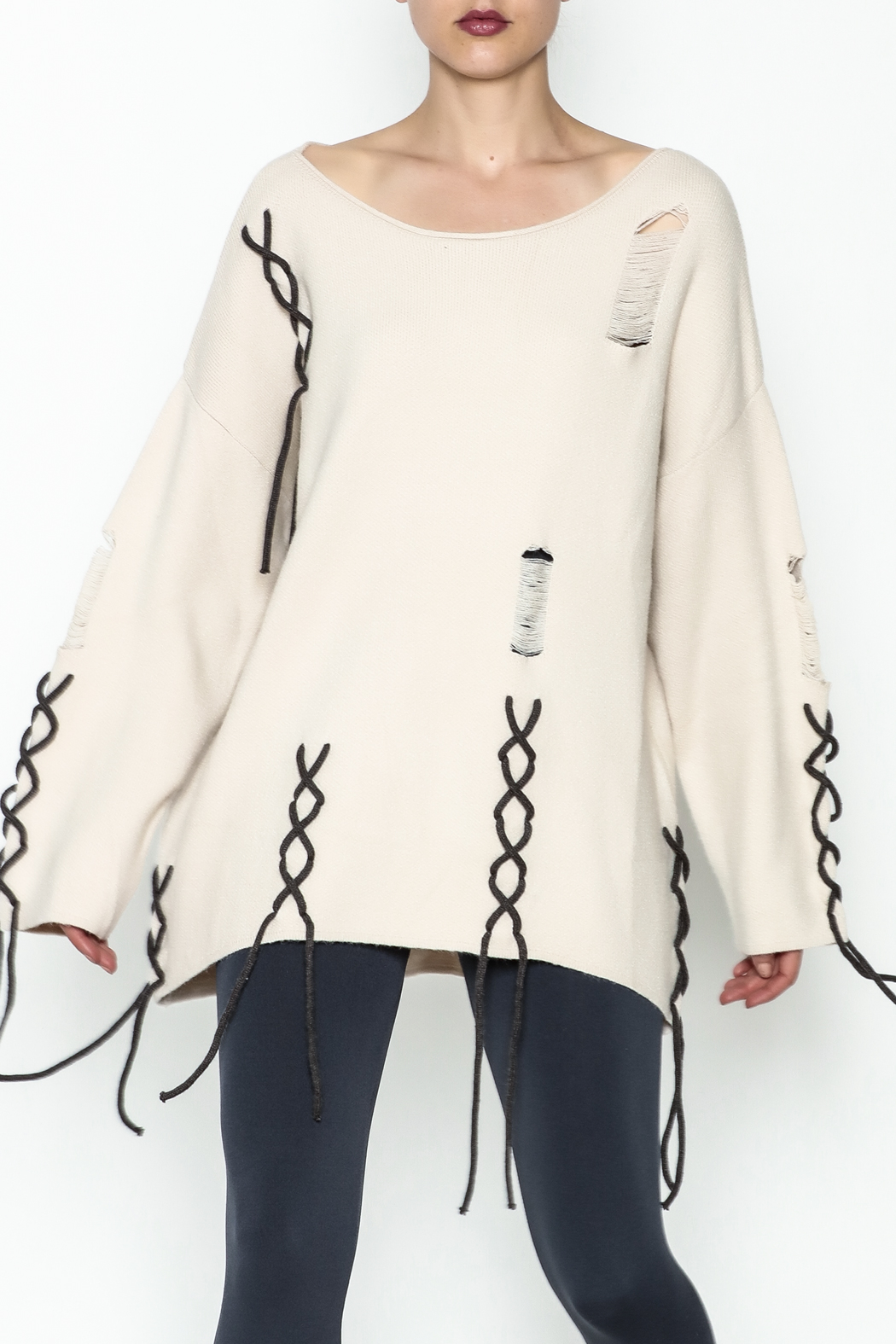 POL Beige Sweater - Main Image