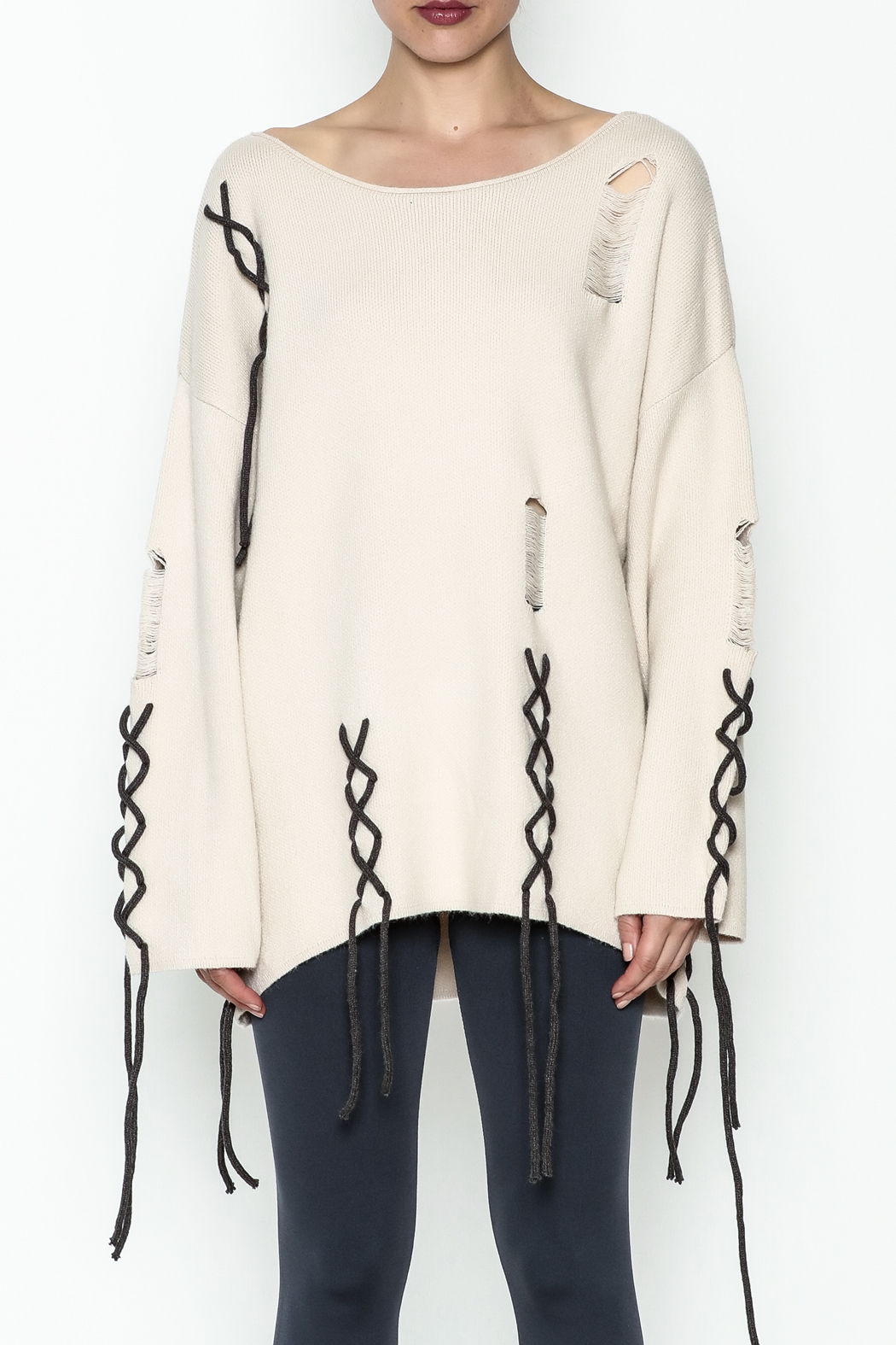 POL Beige Sweater - Front Full Image