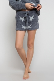 POL Berber Grey And White Star Shorts - Product Mini Image