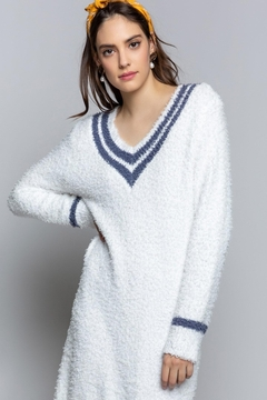 Shoptiques Product: Berber Varsity Cozy Dress