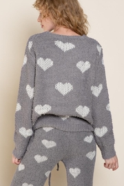 POL Berber White And Grey Heart Pulover - Other