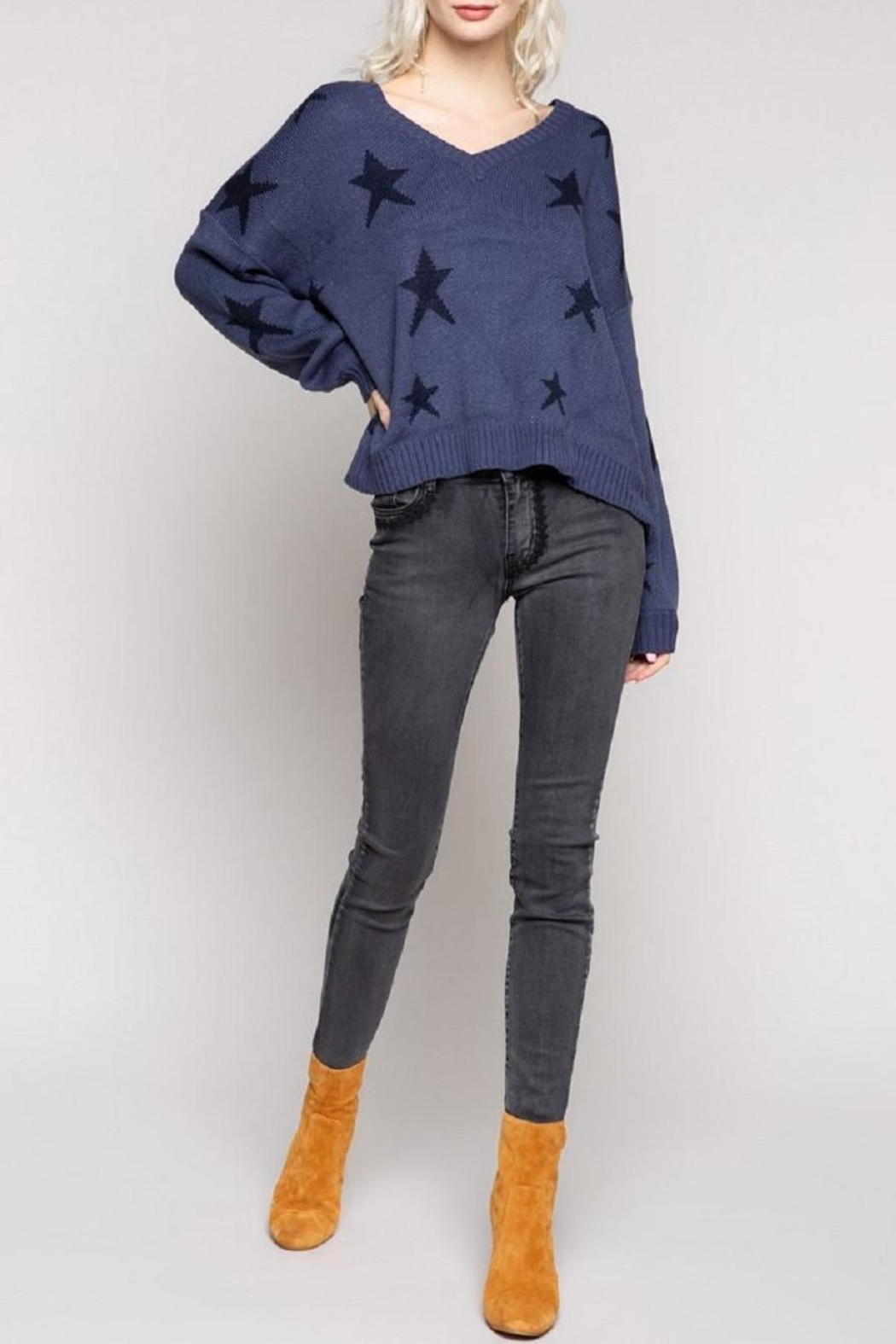 POL Big Dipper Star Sweater - Side Cropped Image