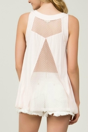 POL Blush Lace-Up Top - Back cropped