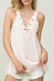 POL Blush Lace-Up Top - Product Mini Image
