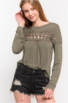 POL Braided Detail Top - Product List Image