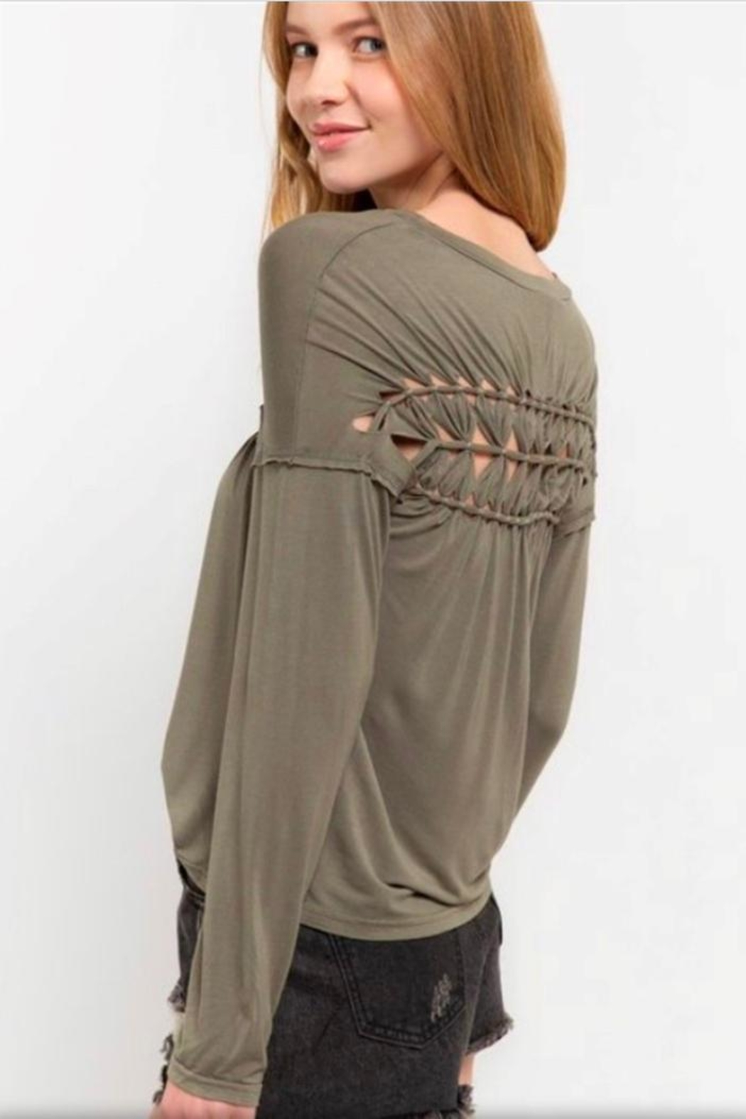 POL Braided Detail Top - Front Full Image