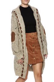 POL Cable Knit Cardigan - Front cropped