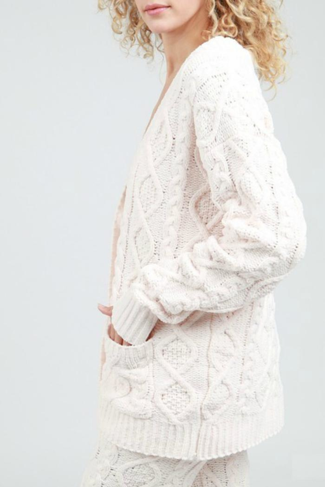 POL Cable Knit Cardigan - Main Image