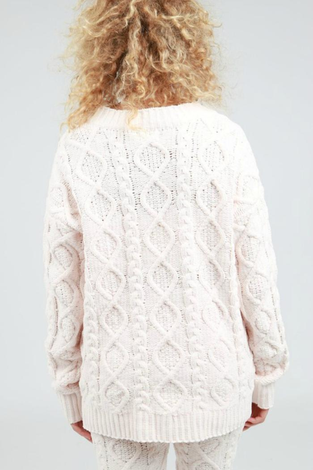 POL Cable Knit Cardigan - Front Full Image