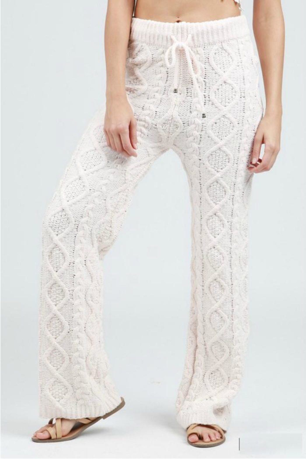 POL Cable Knit Pant - Main Image