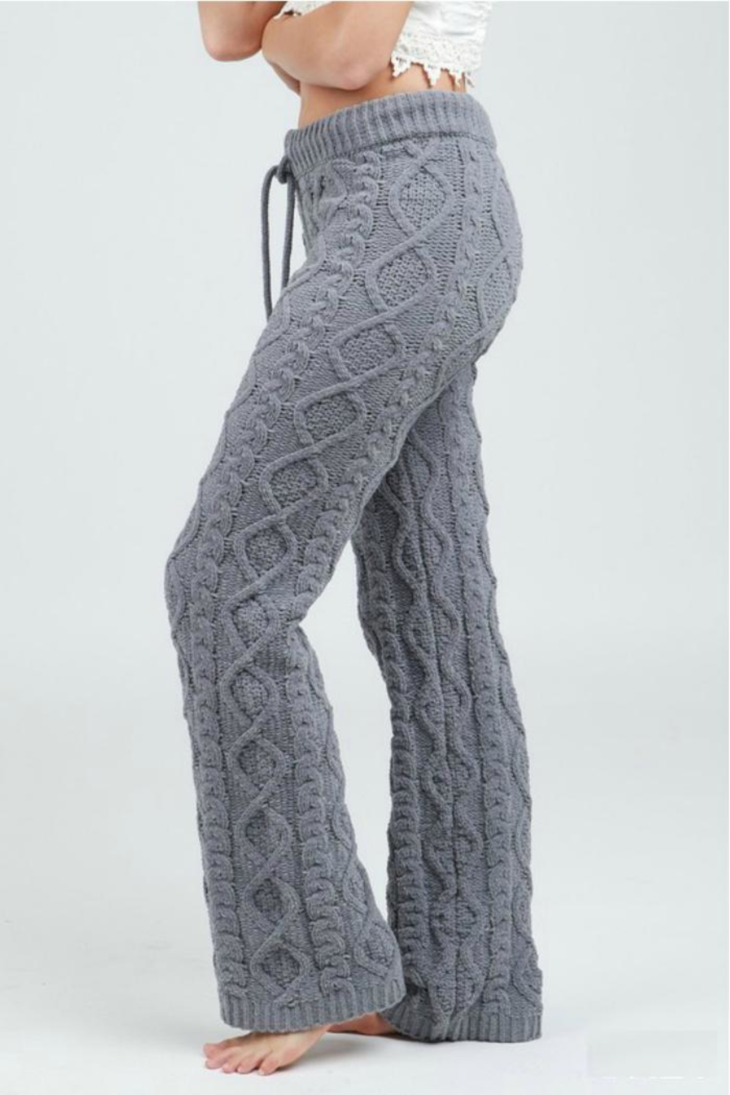 POL Cable Knit Pant - Front Full Image