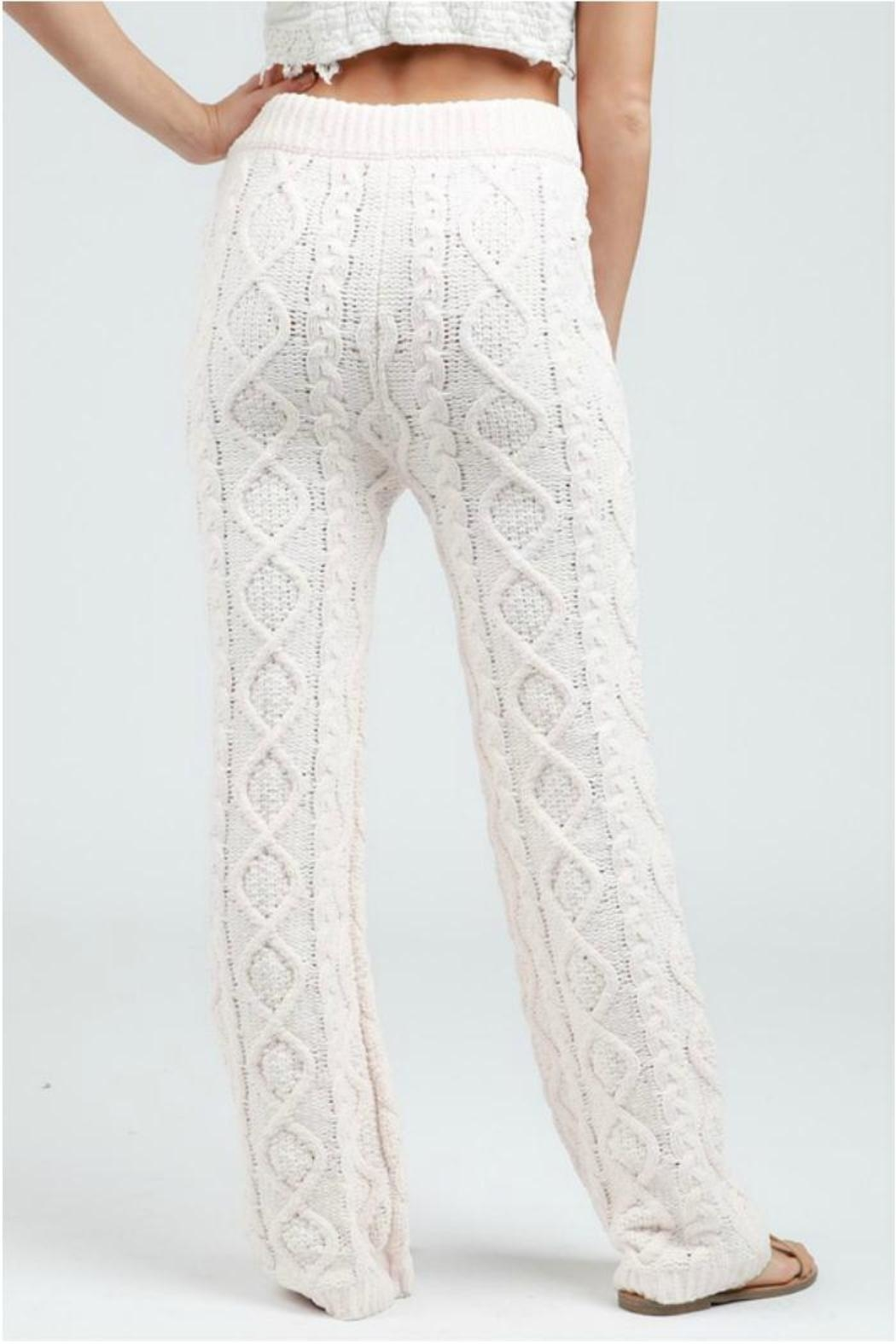 POL Cable Knit Pants - Side Cropped Image
