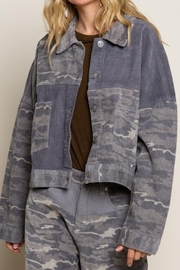 POL Camo Cord Jacket - Front cropped