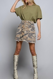 POL Camo Mini Skirt - Front cropped