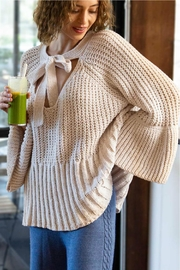 POL Chenille Bell-Sleeve Sweater - Product Mini Image