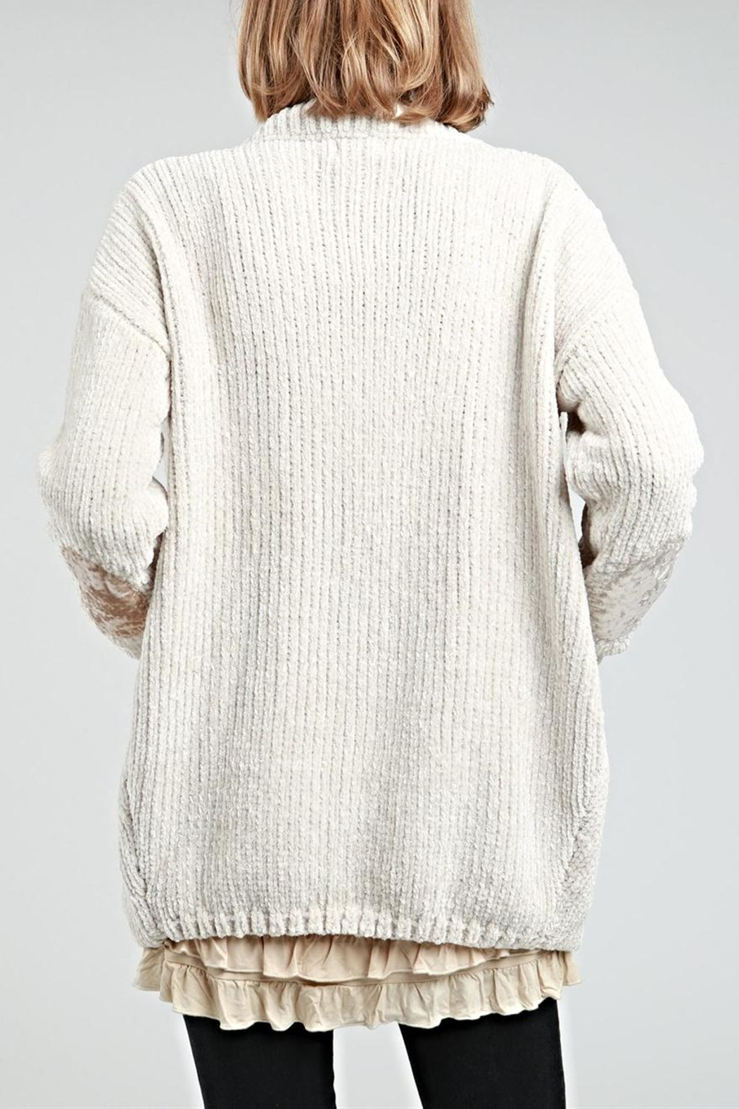 POL Chenille Cardigan - Front Full Image