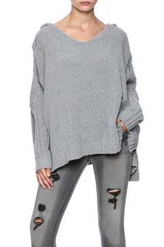 Shoptiques Product: Chenille Ripped Sweater