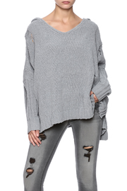 POL Chenille Ripped Sweater - Product Mini Image