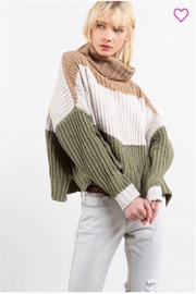 POL Pol Carmel Color Block Sweater - Product Mini Image