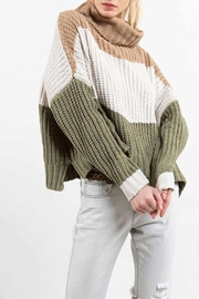 POL Colorblock Sweater - Front cropped