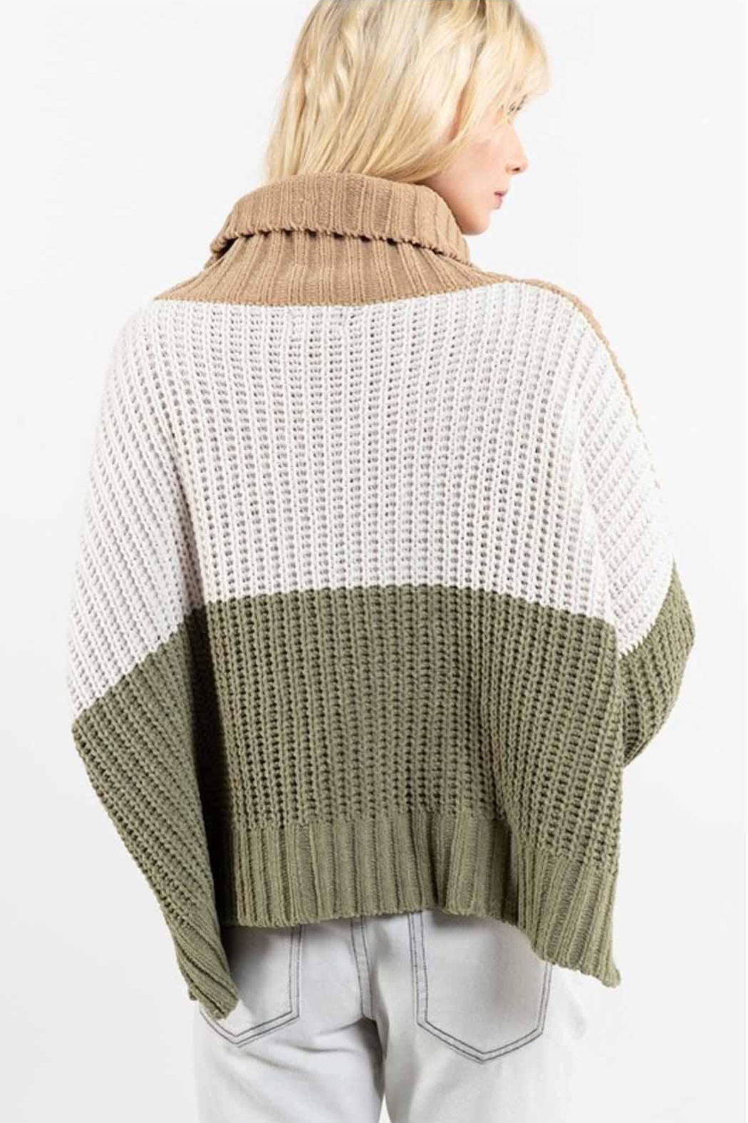 POL Colorblock Sweater - Side Cropped Image