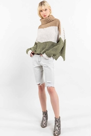 POL Colorblock Sweater - Back cropped