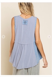 POL Contrast Fabric Top - Front full body