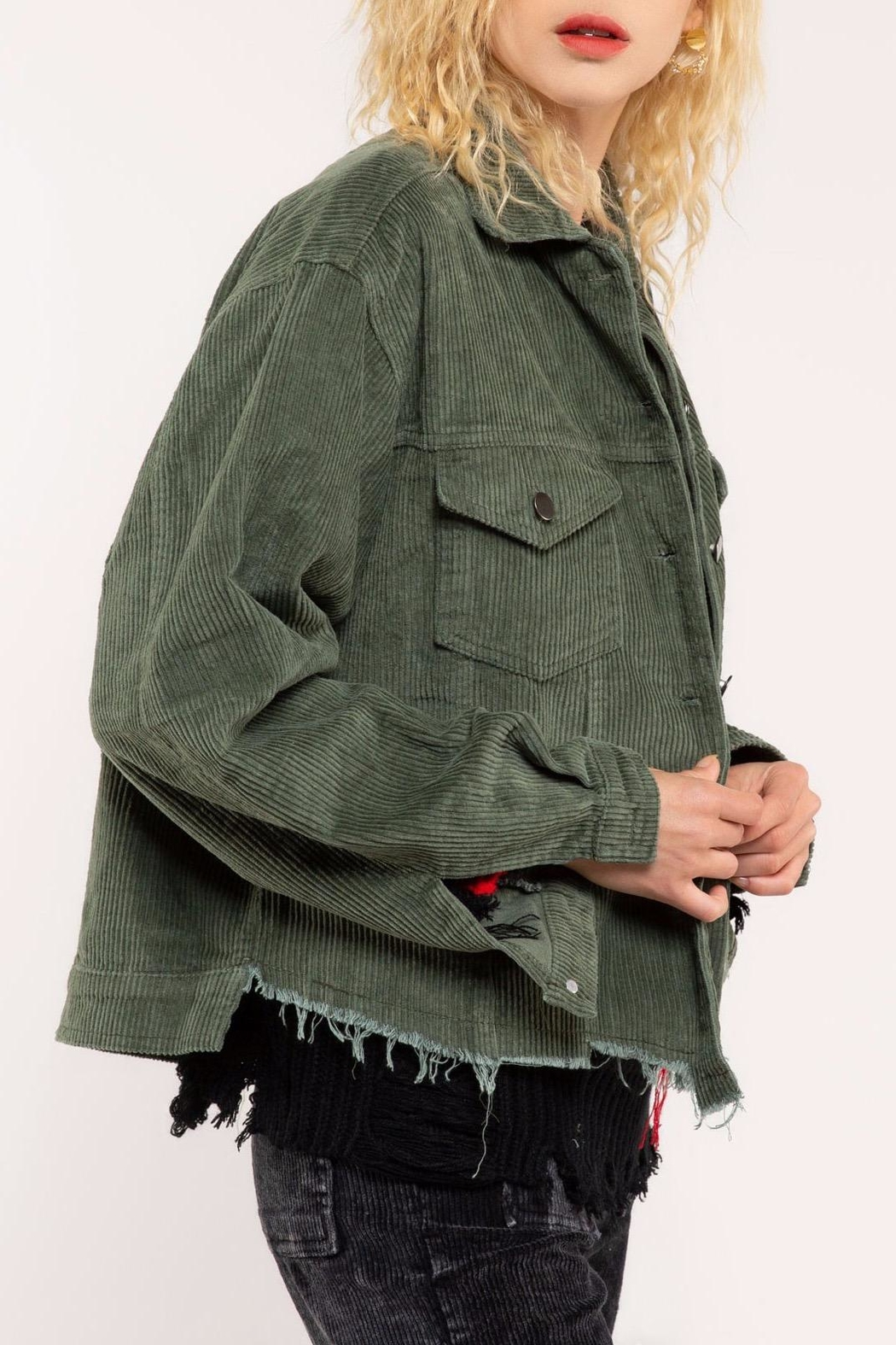 POL Corduroy Jacket - Side Cropped Image