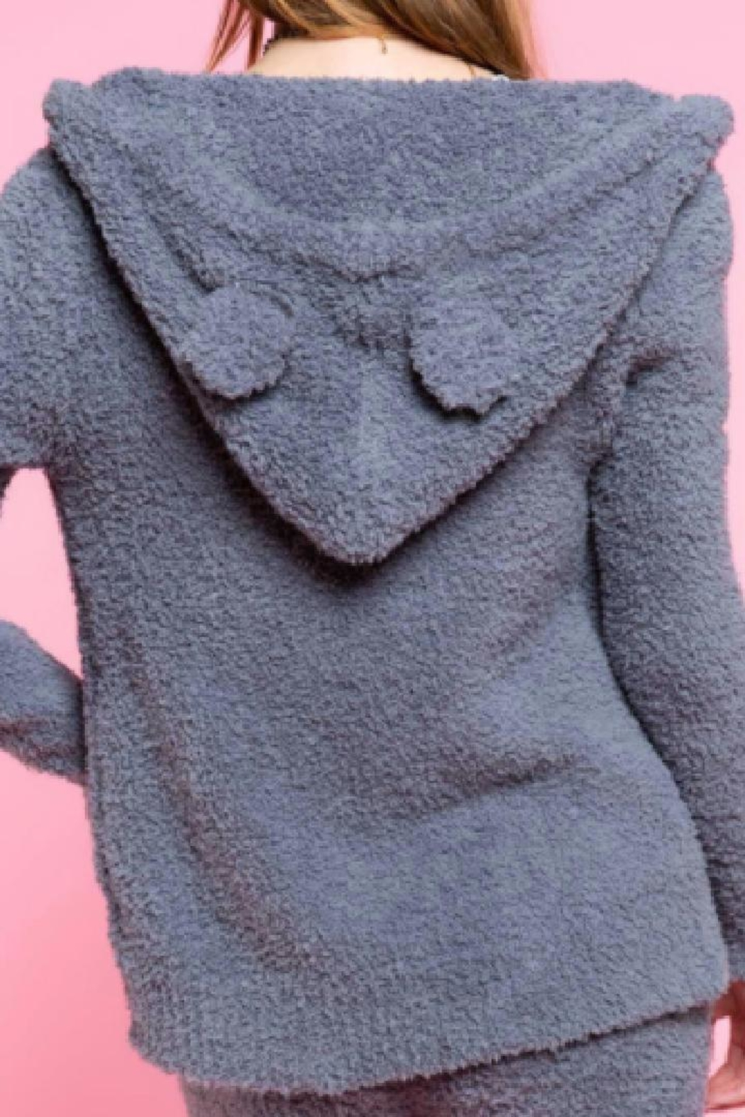 POL Cozy Fuzzy Hoodie - Front Full Image