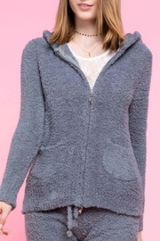 POL Cozy Fuzzy Hoodie - Front cropped