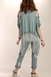 POL Crochet Fringe Cardigan - Back cropped