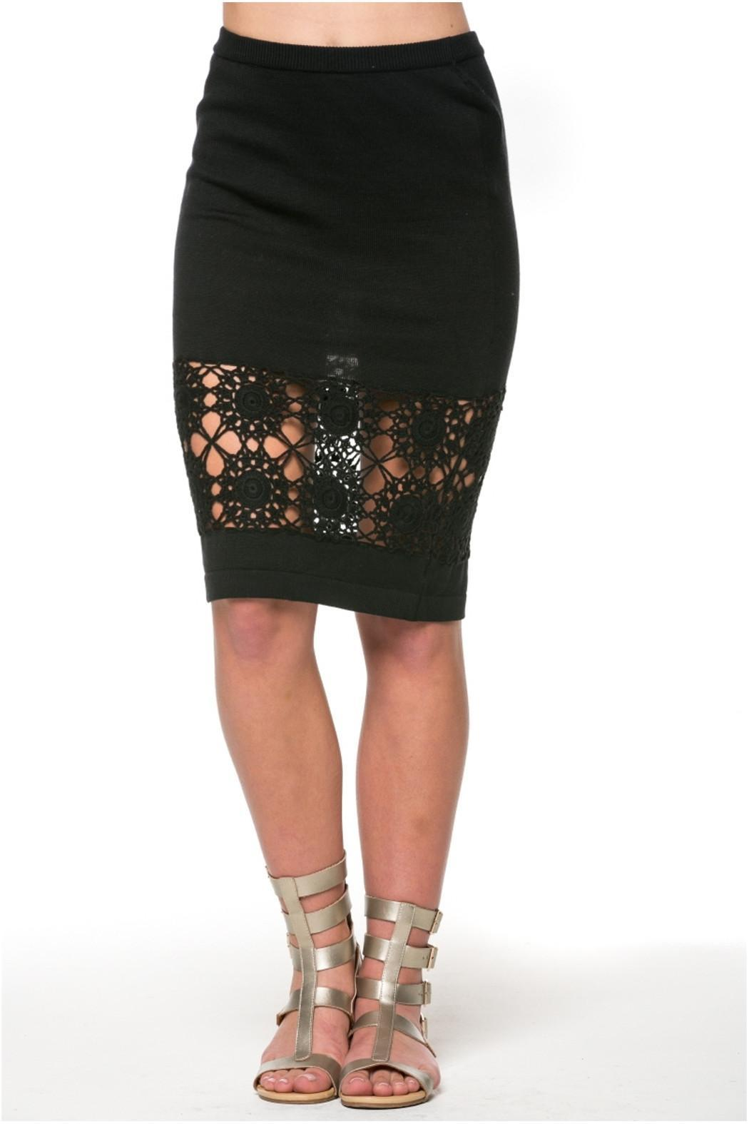 POL Crochet Pencil Skirt - Front Cropped Image