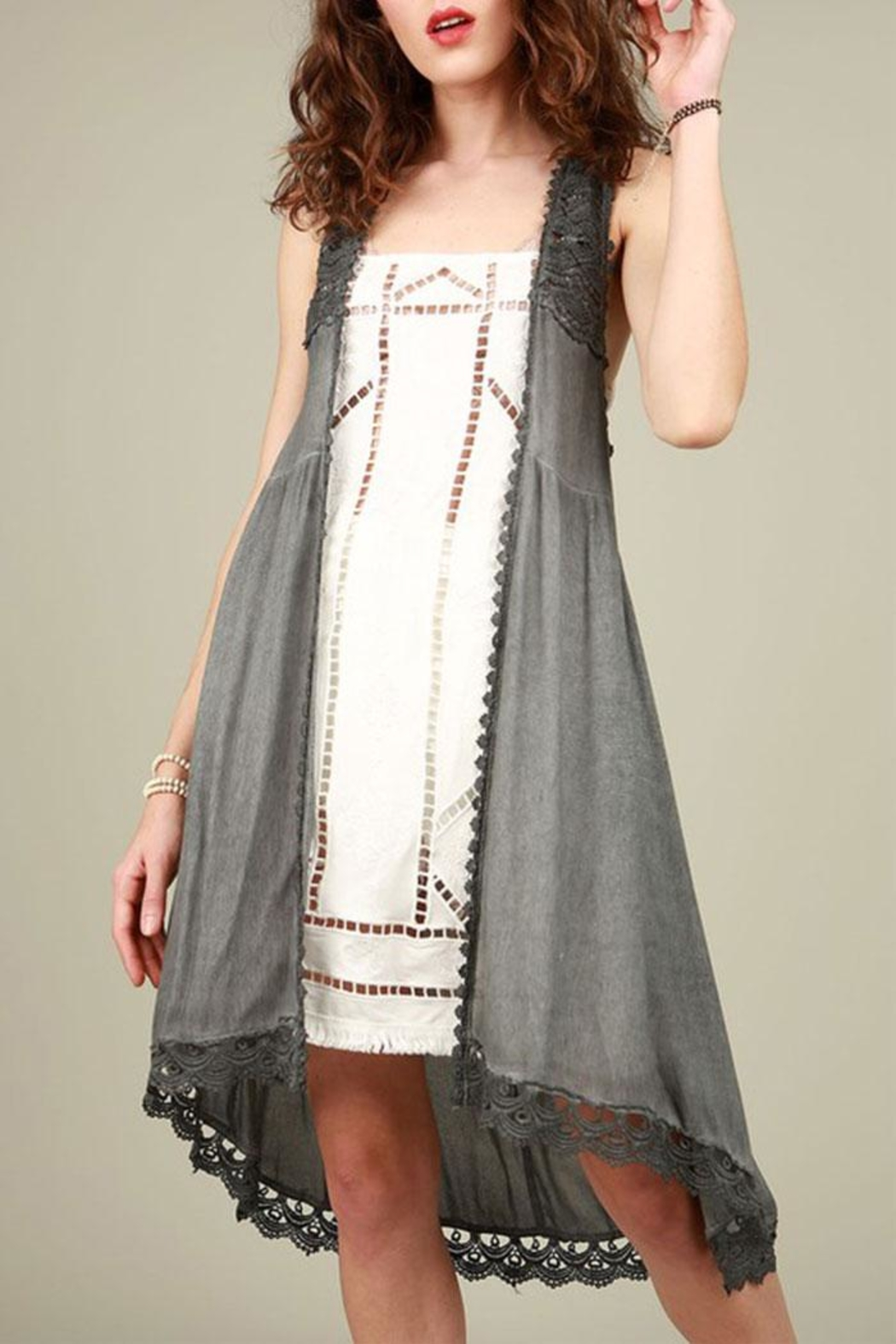 POL Crochet Tunic Top - Main Image
