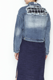 POL Cropped Denim Jacket - Back cropped