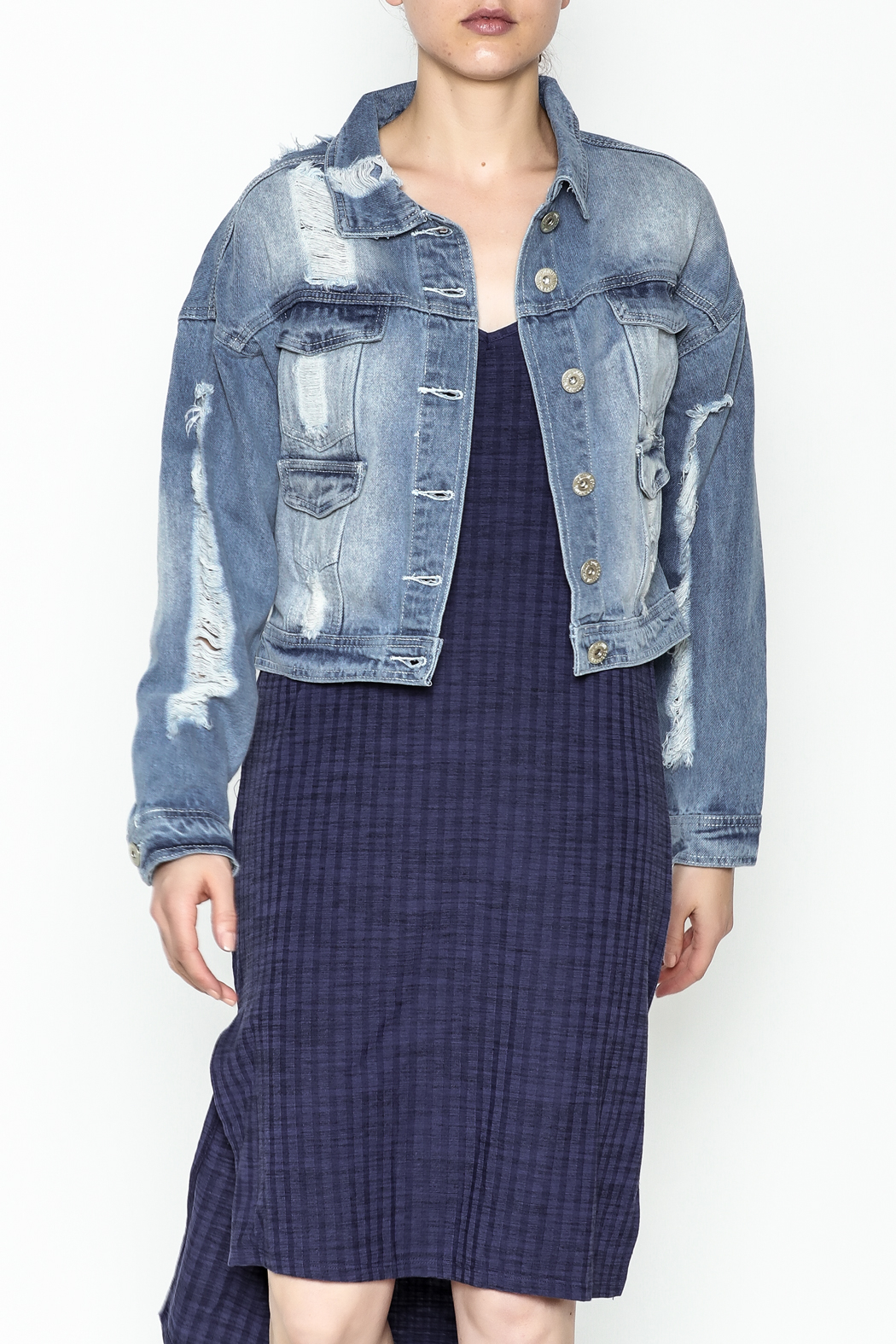 POL Cropped Denim Jacket - Main Image