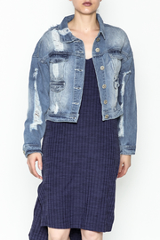 POL Cropped Denim Jacket - Front cropped