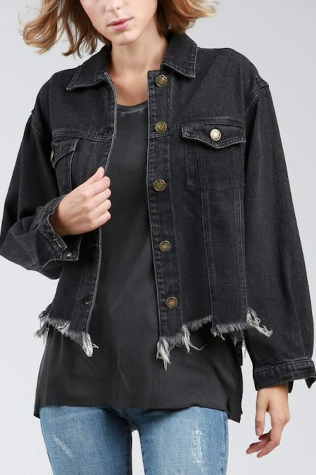 POL Destucted Denim Jacket - Main Image