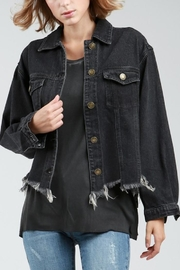POL Destucted Denim Jacket - Front cropped