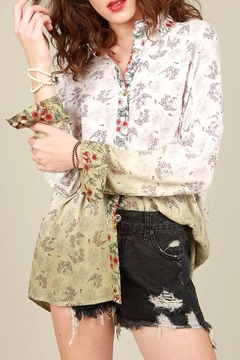 Shoptiques Product: Dip Dyed Floral Shirt