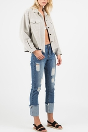 POL Distressed Corduroy Jacket - Back cropped