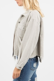 POL Distressed Corduroy Jacket - Front full body