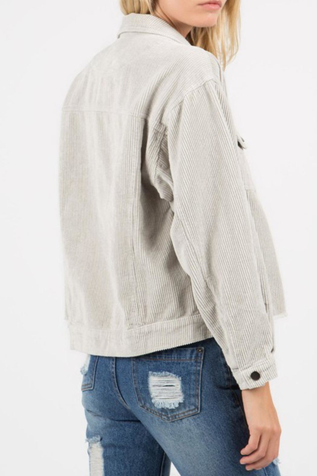 POL Distressed Corduroy Jacket - Side Cropped Image